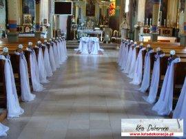 dekoracja kosciola na ślub