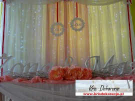 dekoracja sali w Jazowej