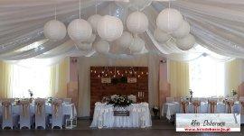 dekoracje sali w Cieklinie