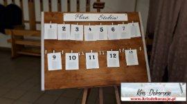 Tablica do planowania stolików